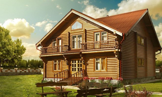 Окрашивания деревянных домов - ключевые особенности 3